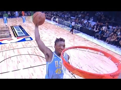 Donovan Mitchell Crazy Dunk / Team World vs Team USA / 2018 NBA Rising Stars Game