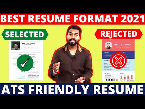 Best Resume format 2021 | This Resume Selected For Job | ATS Friendly Resume Format