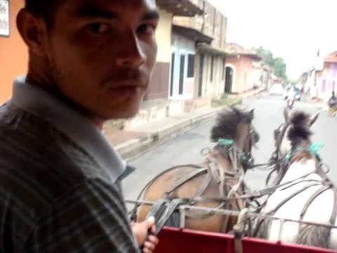 A tour of Granada on carriage, Nicaragua