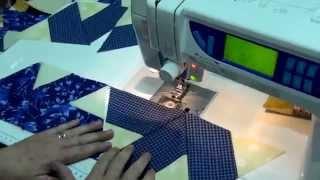 Tia Lili Patchwork: como fazer duas colchas ao mesmo tempo usando uma régua triangular