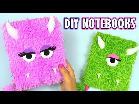 DIY NOTEBOOK IDEAS WITH WOOL! DIY BACK TO SCHOOL