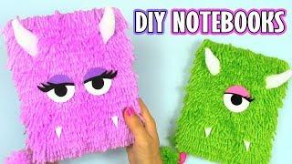 DIY NOTEBOOKS Monster plush! - DIY BACK TO SCHOOL 2017