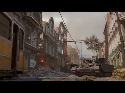Call of Duty®: WWII Aachen Multiplayer Map Flythrough