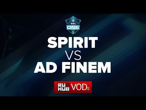 Team Spirit -vs- Ad Finem || ESL One Frankfurt Quals || Game 1