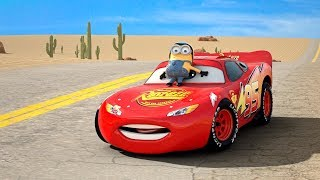 Minion on Lightning McQueen's Hood?? Series 1 of Disney Pixar Cars COLLECTION Frozen Ice-Mater Movie thumbnail