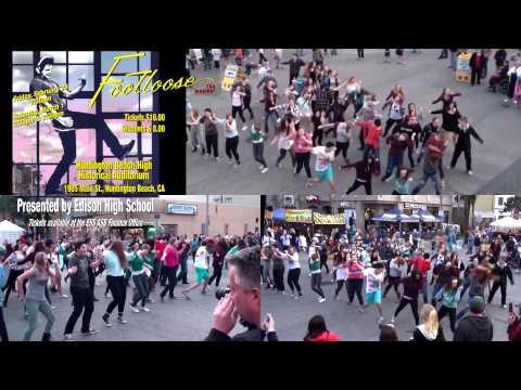 Edison High School Footloose Flash Mob 2  Walnut & Main Huntington Beach