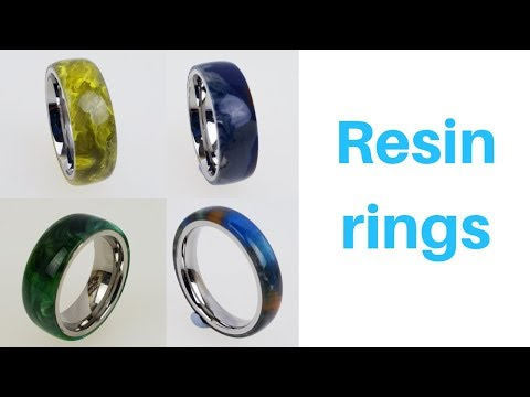 Making a Resin ring with stainless steal ring core.