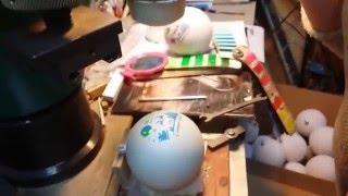 Печать на елочных шарах(Многоцветная печать на елочных шарах. Для печати используются полые тампоны собственного производства...., 2016-02-22T09:18:23.000Z)
