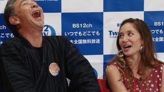 タレントの高田純次、アリッサ・ウーテンが25日、都内で行われたBS12ch ...