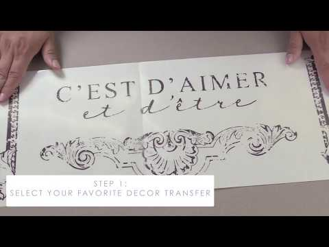 re·design with Prima® -How To Apply Decor Transfers™