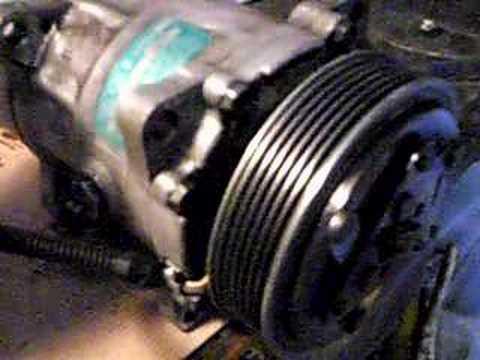 Compressore clima 206 youtube for Condizionatore non parte compressore
