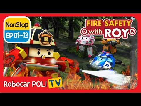 🔥Fire safety with Roy | EP01 - 13 | Robocar POLI | Kids anim