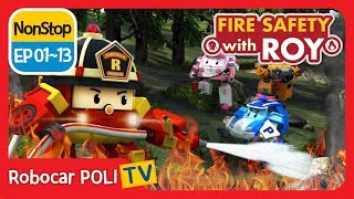 🔥Fire safety with Roy | EP01 - 13 | Robocar POLI | Kids animation