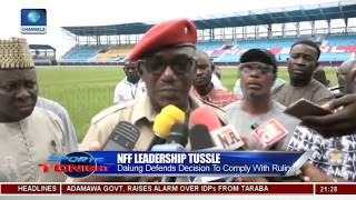 Dalung Visits Stephen Keshi Stadium,Clears Air On Athletes Protest, NFF Leadership Tussle