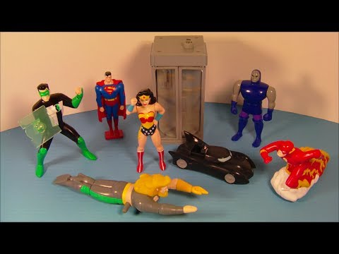 1999 DC SUPER HEROES SET OF 7 JACK-IN-THE BOX KID