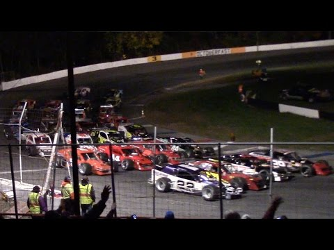 Mahoning Valley Speedway Octoberfast Highlights ROC Modifieds 10-22-16