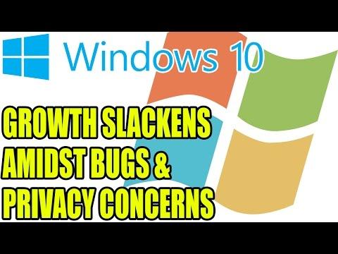 Windows 10 Growth Slackens Amidst Bugs & Privacy Concerns | Oh Dear
