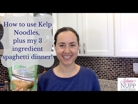 How to use Kelp Noodles (plus my 3-ingredient spaghetti dinner!)