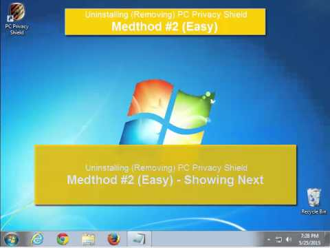 How to Uninstall PC Privacy Shield