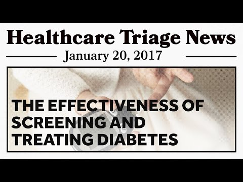 The Effectiveness of Screening and Treating Diabetes