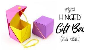 Origami Hinged Gift Box Tutorial - Small Cube Version - Paper Kawaii