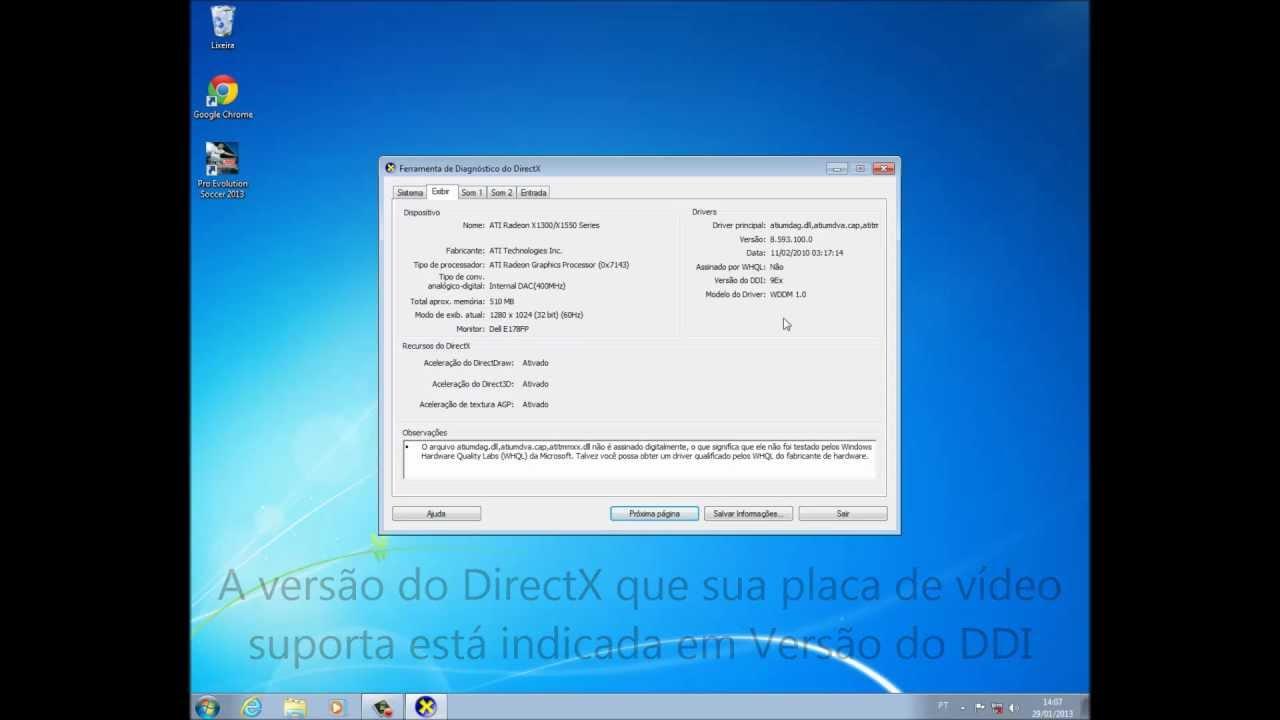 placa de video compativel com direct3d