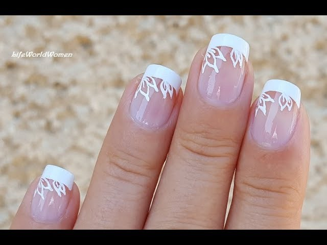 Easy Wedding Nail Art Ideas 5 French Manicure With Flower Design