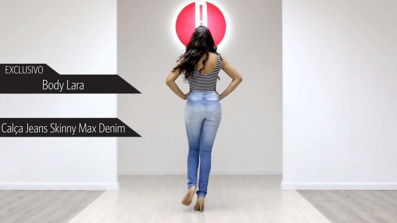 ce7d0f1049 Body Feminino Lara - 6700043310  Calça Jeans Skinny Feminina Max Denim -  6710038564