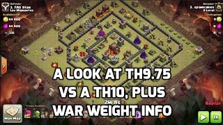 A Look at a 9.75 in Action, Plus War Weight Info | Mister Clash | Clash of Clans