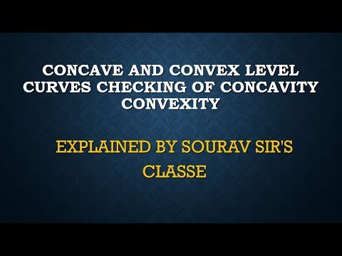 CONCAVE AND CONVEX LEVEL CURVES CHECKING OF CONCAVITY CONVEXITY BY SOURAV SIR