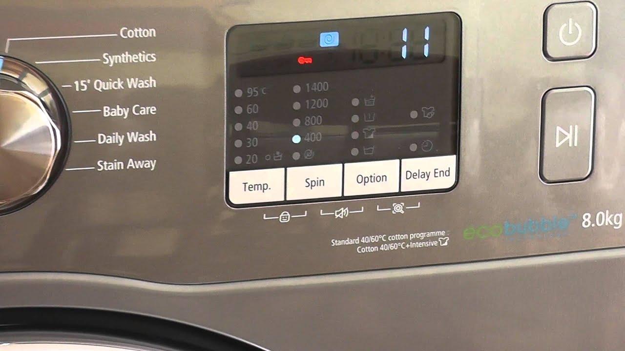 samsung eco bubble 8kg washing machine 2013 youtube. Black Bedroom Furniture Sets. Home Design Ideas