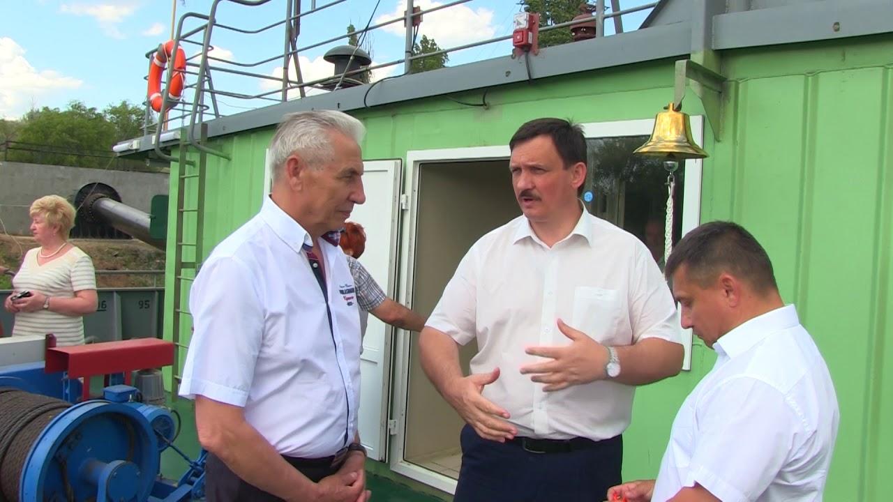 Открытие новой головной насосной станции в Быковском районе