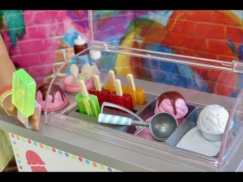 American Girl Doll Ice Cream Cart