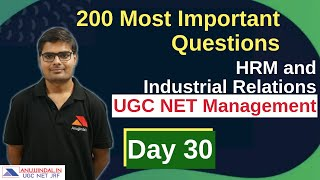 HRM and Industrial Relations UGC NET Management December 2019