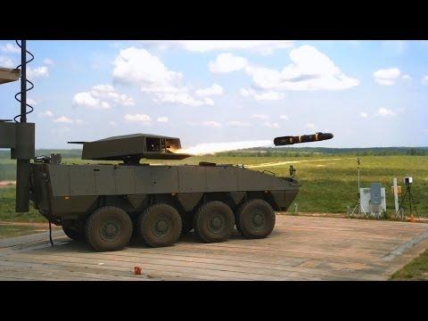 Lockheed Martin DAGR & HELLFIRE missiles tests from Patria AMV