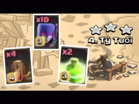 Easy 3 Star 10 Witch And Earthquake Spell + Jump Spell TH11 Attacks Clash of Clans