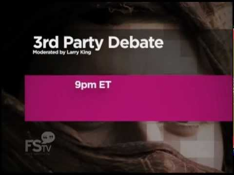 Presidential Debate with 3rd Party Candidates Moderated by Larry King