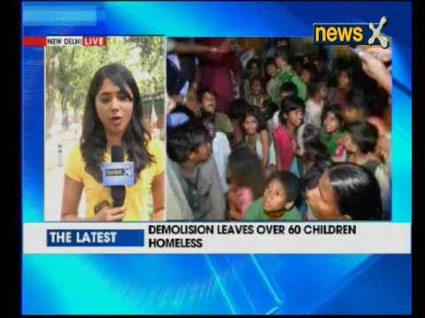 Delhi cops demolish shelter home at Nizamuddin; over 50 kids homeless
