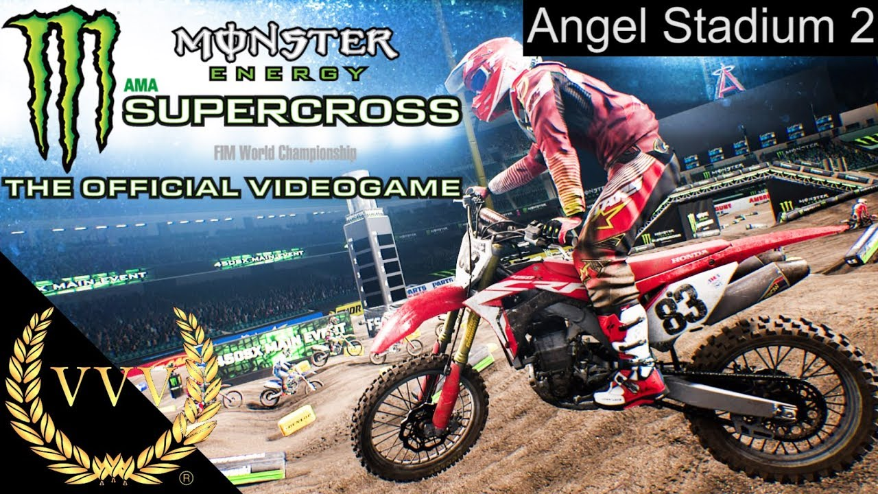 monster energy supercross ps4 gameplay angel stadium 2. Black Bedroom Furniture Sets. Home Design Ideas