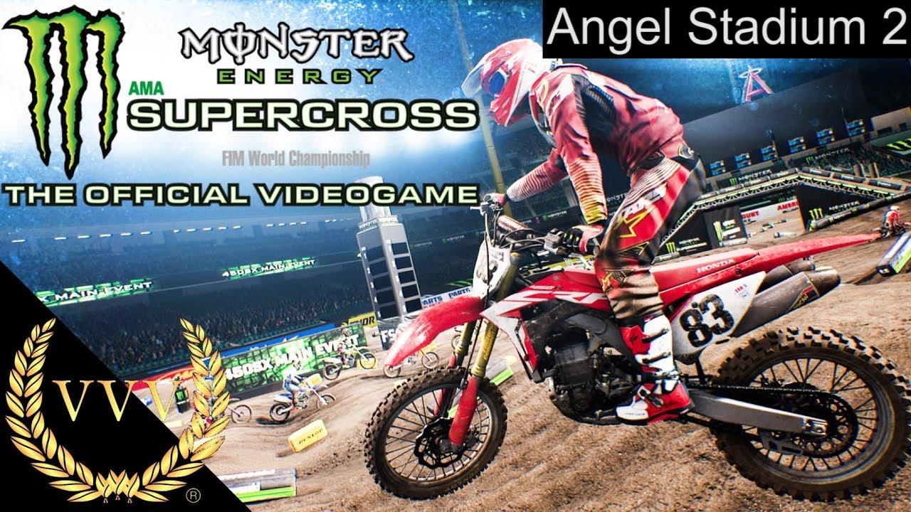 monster energy supercross ps4 gameplay angel stadium 2. Black Bedroom Furniture Sets. Home Design Ideas
