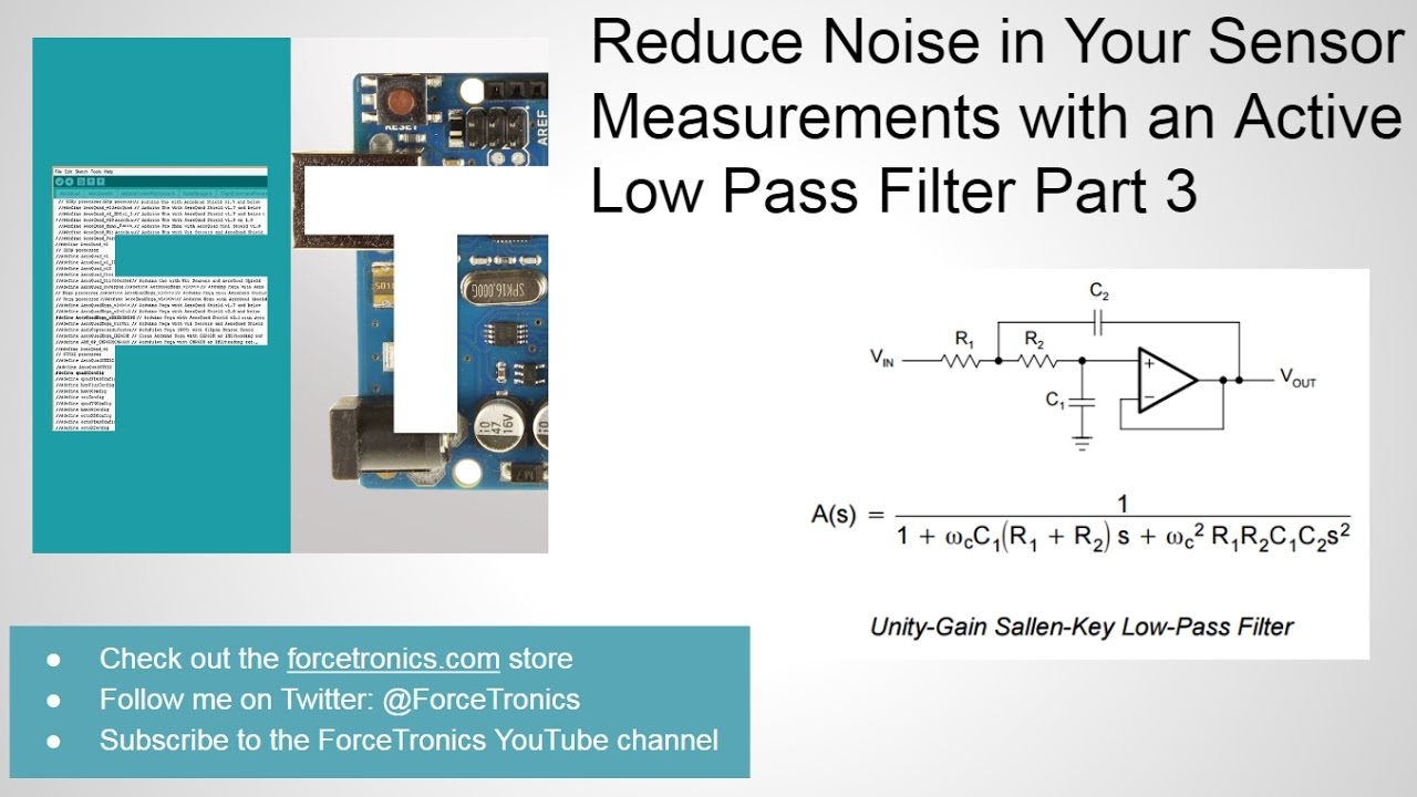 0bda26ab7de Reduce Noise in Your Sensor Measurements with an Active Low Pass Filter  Part 3 - YouTube