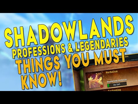 Shadowlands BEST Professions? Legendary Crafting Guide & My Top Profession Picks | WoW Beta