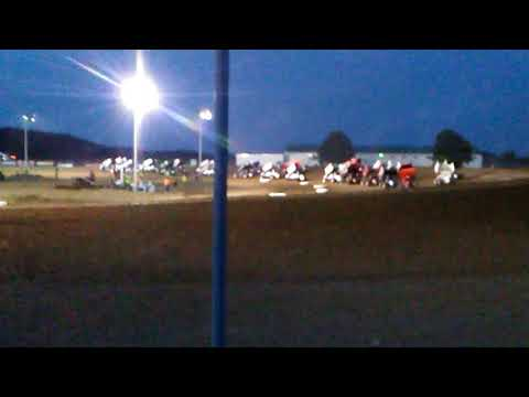 World of Outlaws Attica raceway park sprint cars 2018
