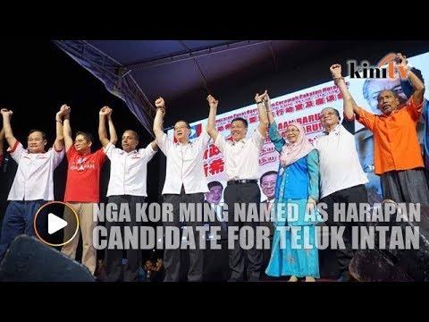 Nga Kor Ming named as Harapan candidate for Teluk Intan