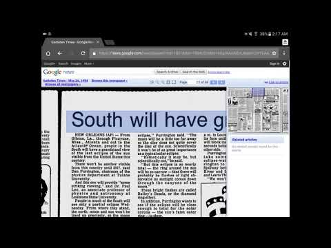 Mandela Effect (I Found A Newspaper Reference to Solar Eclipse 2017, From 1984)