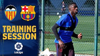 Dembélé continues comeback as first-team prepare for Valencia