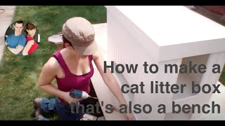 Make A Cat Litterbox That's Also A Bench