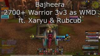 Bajheera - 2700+ Fury/Arms Warrior 3v3 as WMD - WoW 7.1.5 Legion PvP