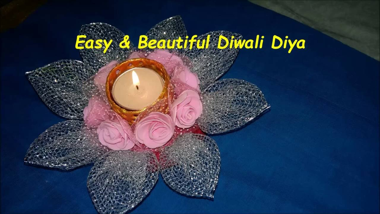 Diy How To Make Beautiful Decorative Candle Diya For Diwali At Home In Just 5 Min Youtube