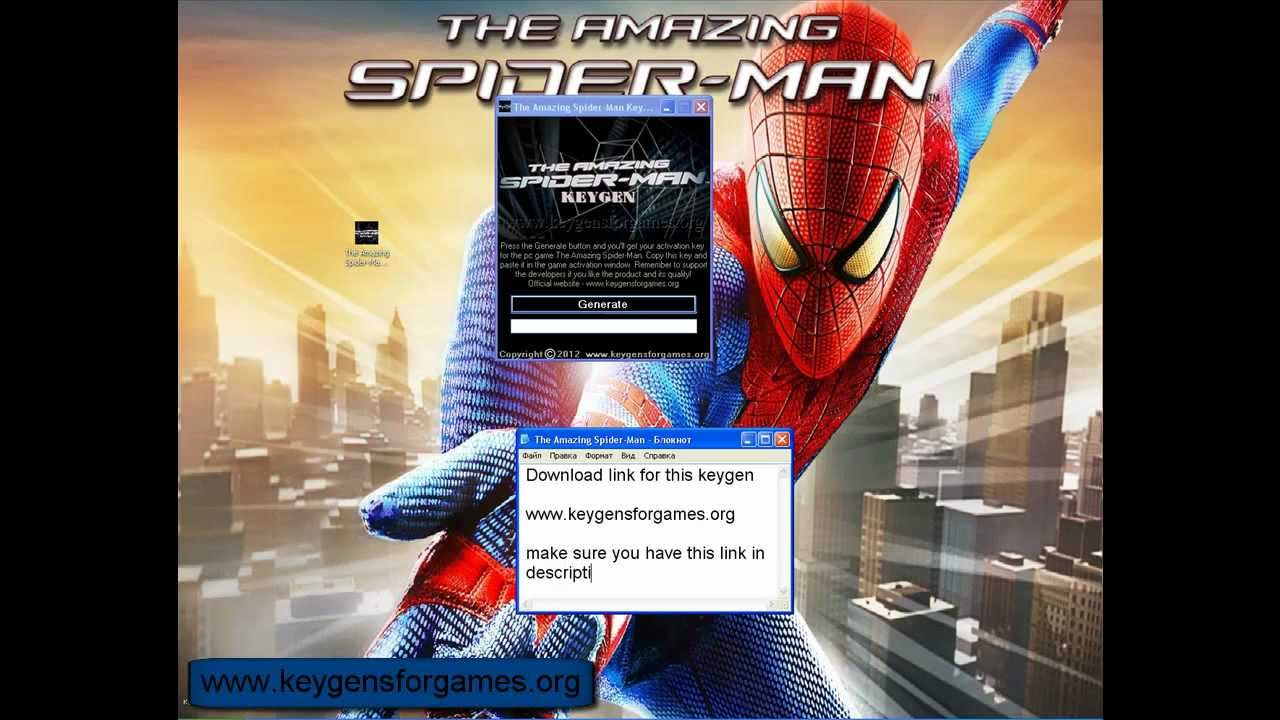 Free the amazing spider man pc game activator download +.